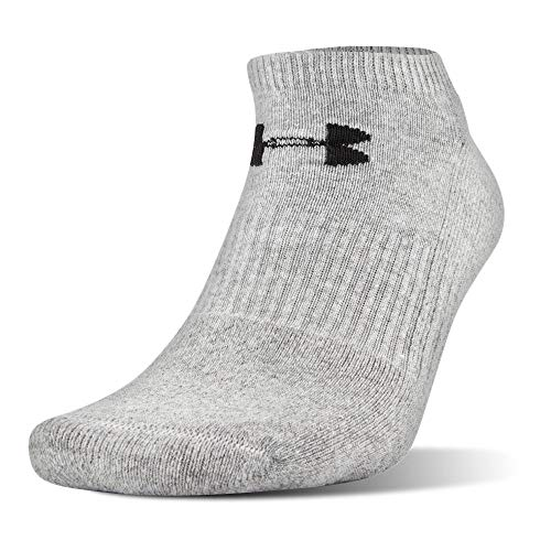 Under Armour UA Charged Cotton 2.0 No Show Socks – 6-Pack MD True Gray Heather by Under Armour (Image #1)
