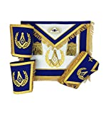 Masonic Master Mason Apron Set Gold Apron, Collar and gauntlets