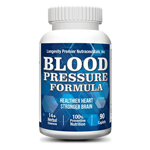 Longevity Blood Pressure Formula [90 tablets] - Clinically formulated - With 10+ standardized herbal extracts & L-Arginine. Best blood pressure supplement