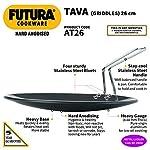 Hawkins Futura Hard Anodised Tava, Diameter 26 cm, Thickness 4.88 mm, Black (AT26)