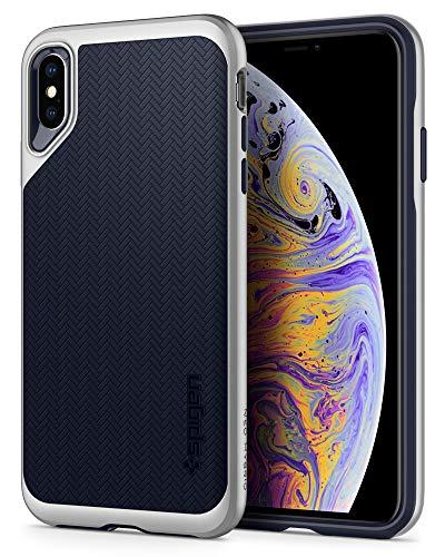 Spigen Neo Hybrid Designed for Apple iPhone Xs MAX Case (2018) - Satin Silver