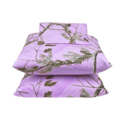 Kimlor Mills Realtree APC Sheet Set, Twin, Lavender