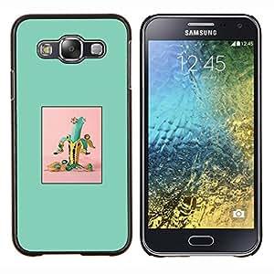 - banana green fruit minimalist - - Modelo de la piel protectora de la cubierta del caso FOR Samsung Galaxy E5 E500 RetroCandy