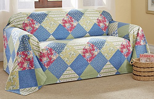 Patchwork Furniture Protector Loveseat Washable