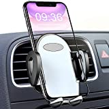 Car Phone Holder Air Vent, TEUMI Cell Phone Holder for Car 2-Level Adjustable Hands Free Car Phone Mount Compatible with iPhone 11 Pro Max XS Max XR X 8 7 Plus, Galaxy S10 Plus S10e S9 S8 Note 10 9 8, Google Pixel, Huawei Cellphones