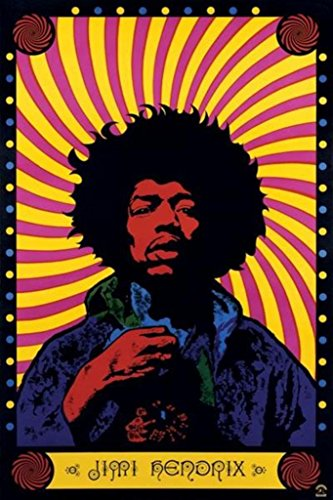 Pyramid America Jimi Hendrix Psychedelic Music Cool Wall Decor Art Print Poster 12×18