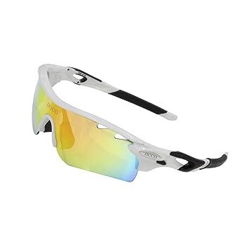DUCO 0025 - Gafas de Sol Deportivas, polarizadas, con 5 Lentes Intercambiables. Protección UV400 Anti Rayos UVA UVB UVC: Amazon.es: Deportes y aire libre