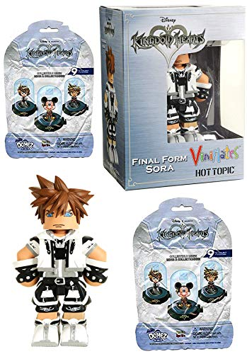 Domes Final Form ViniMates Hot Topic Exclusive Sora Figure & 2 Mini Domez Series Kingdom Hearts Blind Bag Disney Action Figures Collectible 3-Pack Game Gear Bundle