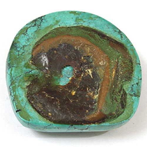 Be You Naturel tibétain Turquoise Good Qualité 28x28 mm Cabochon demi-cercle Forme 49.62cts 1 pièces en vrac gemme