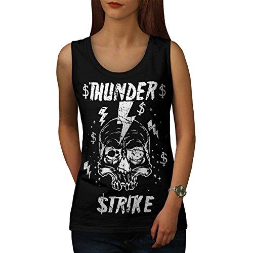 [Skull Thunder Strike Lightning Women NEW XXL Tank Top | Wellcoda] (Thunder Lightning Costume)