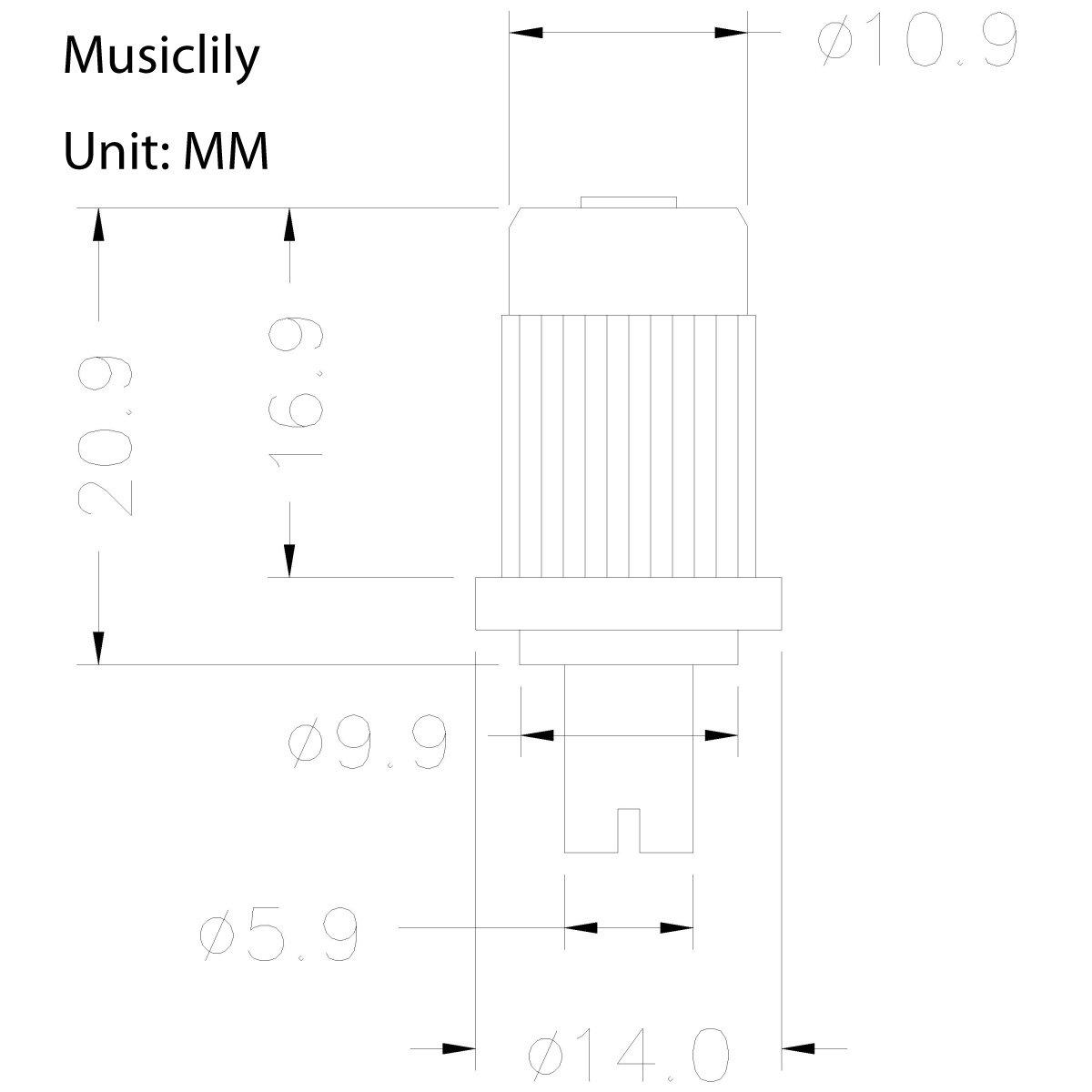 Musiclily Estilo ABR-1 Tune-o-Matic Puente para Guitarra de estilo Les Paul,Oro