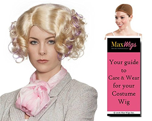 Fee Trinkket Hunger Color Blonde/Lavender - Enigma Wigs Women's Banks Games Futuristic Bundle with Wig Cap, MaxWigs Costume Wig Care -
