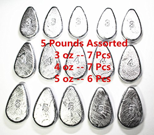 6 Ounce Star Weight - Kathy Store INC No Roll Sinkers - Assorted weights (5 LB - 3oz \ 4oz \ 5oz)