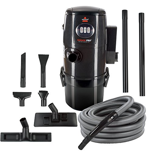 (Bissell Garage Pro Wall-Mounted Wet Dry Car Vacuum/Blower with Auto Tool Kit,)
