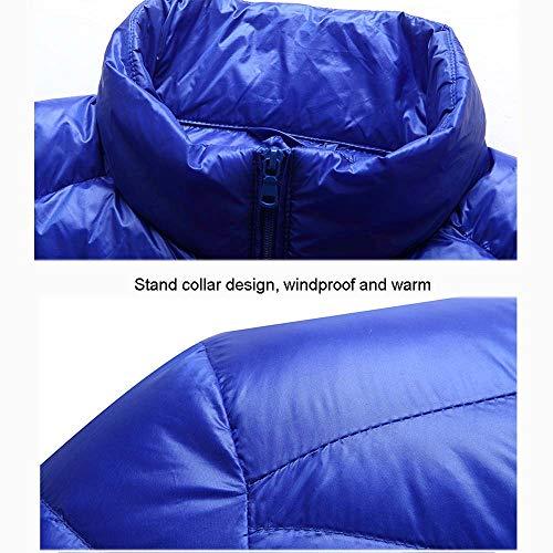 Corto Scaldamuscoli Uomo Azzurro In Piumino M Nero colore Huifei Da Leggero Dimensioni Gray qcwg1nYWX