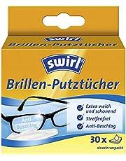 Swirl Brillen-poetsdoeken, alcoholhoudende vochtige brillendoeken met anti-condens-effect voor helder zicht, 1 x 30 stuks