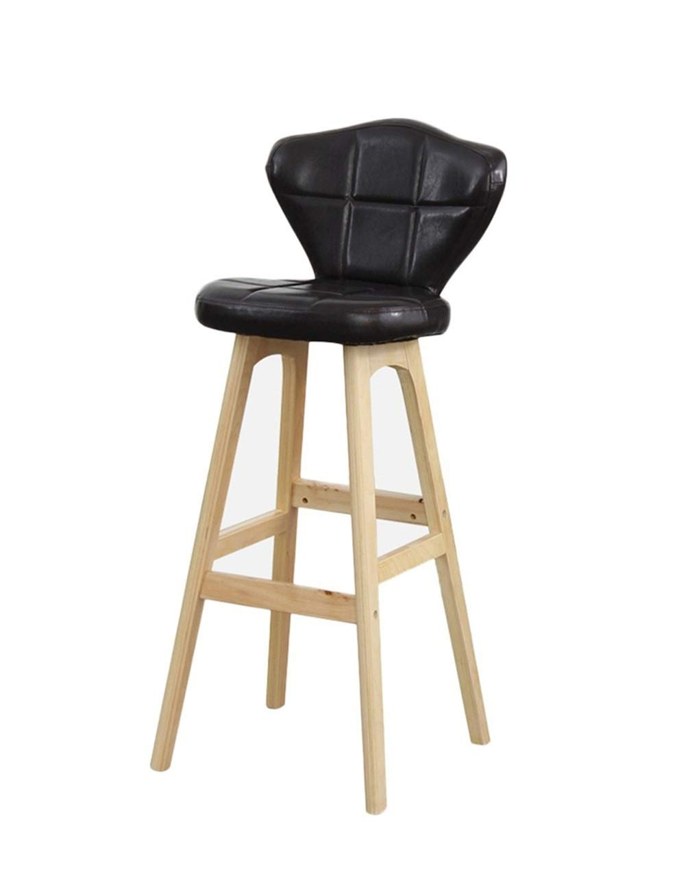 Wpjpzwj777 Barstools Wooden bar Chair with backrest, bar Kitchen Counter Height, a Variety of Colors to Choose from for a Variety of Occasions (Color : 2) by Wpjpzwj777