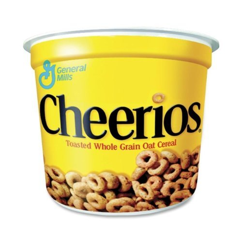 (Cheerios Breakfast Cereal, Six Single-Serve 1.3oz)