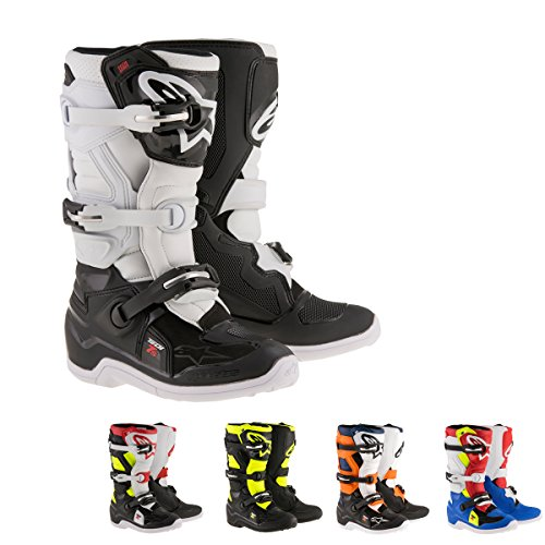 Alpinestars Tech 7S Boy's Off-Road Motorcycle Boots - Black/Yellow / 3