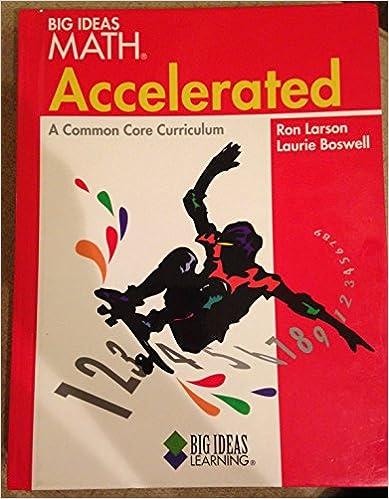 Amazon big ideas math accelerated common core student edition big ideas math accelerated common core student edition red 2012 1st edition fandeluxe Choice Image