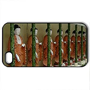 buddist temple - Case Cover for iPhone 4 and 4s (Religious Series, Watercolor style, Black)