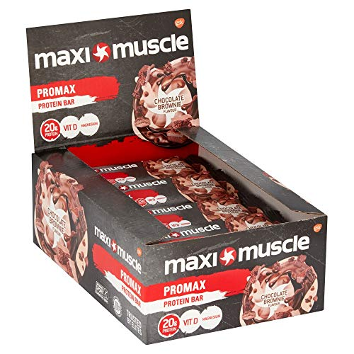 M a ximuscle Promax High Protein Bar, 60 g - Chocolate Brownie, Pack of 12