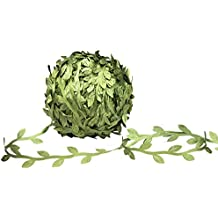 MoonLa Artificial Vines, 327Ft/100M Fake Hanging Plants Silk Ivy Garlands Simulation Foliage Rattan Green Leaves Ribbon DIY Craft Wreath Accessory Home Wall Garden Wedding Party Decor