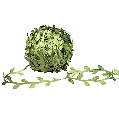 Baby Vines - MoonLa Artificial Vines, 327Ft/100M Fake Hanging Plants Silk Ivy Garlands Simulation Foliage Rattan Green Leaves Ribbon DIY Craft Wreath Accessory Home Wall Garden Wedding Party Decor