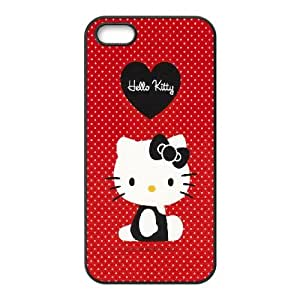 Red hello kitty iPhone 5 5s Cell Phone Case Black DIY TOY xxy002_834418