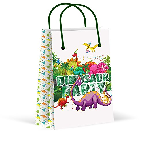 LARZN Dinosaur Party Favor Bags, New, Treat Bags, Gift Bags ,Goody Bags,Dinosaur Party Favors, Dinosaur ,Fossil Party, Jurassic Park Party, T-Rex Party Supplies, Decorations, 12 -