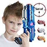 Laser Tag Guns Set – 4 Pack Multiplayer Laser Nerf Gun, No Vest Needed – Indoor & Outdoor Group Fun – Safe Infrared Lazer Toy Blasters for Kids with Vibrations, Sound Effects, Lights by ThrillZone