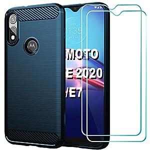 HNHYGETE Moto E Phone Case,Motorola e Case with Screen Protector [2Pack] Shock-Absorption Slim TPU Soft Rubber…