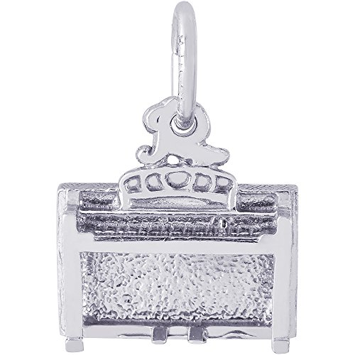 Rembrandt Charms Sterling Silver Spinet Charm (8 x 12 mm)