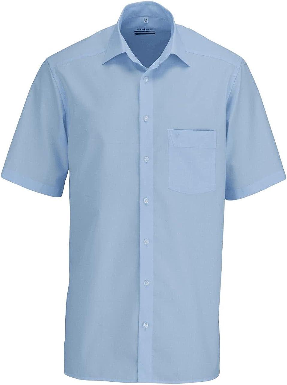 Marvelis City-Hemd langarm Comfort Fit weiß mit blau-rotem Kragen-Besatz FS 2020