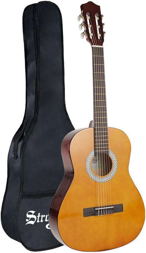 Strong Wind guitarra clásica acústica 3/4 tamaño36 pulgadas cuerdas de nylon para principiantes con funda