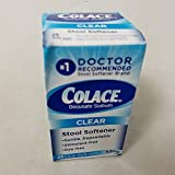 Colace Clear Docusate Sodium Stool Softener 50mg, 28 Count Per Box (6 Pack)