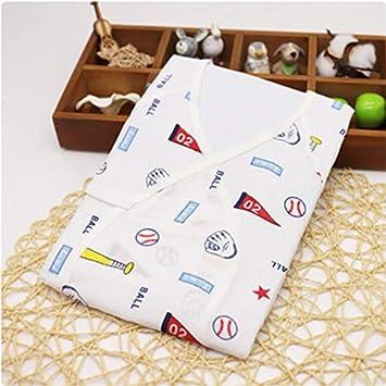ICYCHEER 0-3 meses bebé recién nacido ropa japonesa Kimono Gown 100% algodón lindo dibujos animados pelele pijama bebé niño niña mono traje ropa: Amazon.es: ...