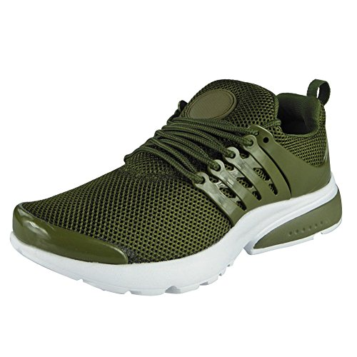 Sports Trainers Lace Fitness Green 8 Look 3 Up Size Gym Shoes Womens Running Loud Comfy Ladies Flat IwPUCXWq