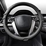2012 ford focus wheel cover - FH Group FH3003BLACK Black Steering Wheel Cover (Silicone W. Grip & Pattern Massaging grip Black Color-Fit Most Car Truck Suv or Van)