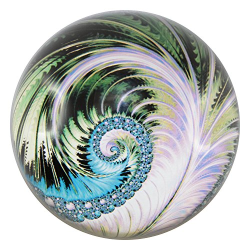 Dia Blue Glass (Glass Dome Paperweights 3