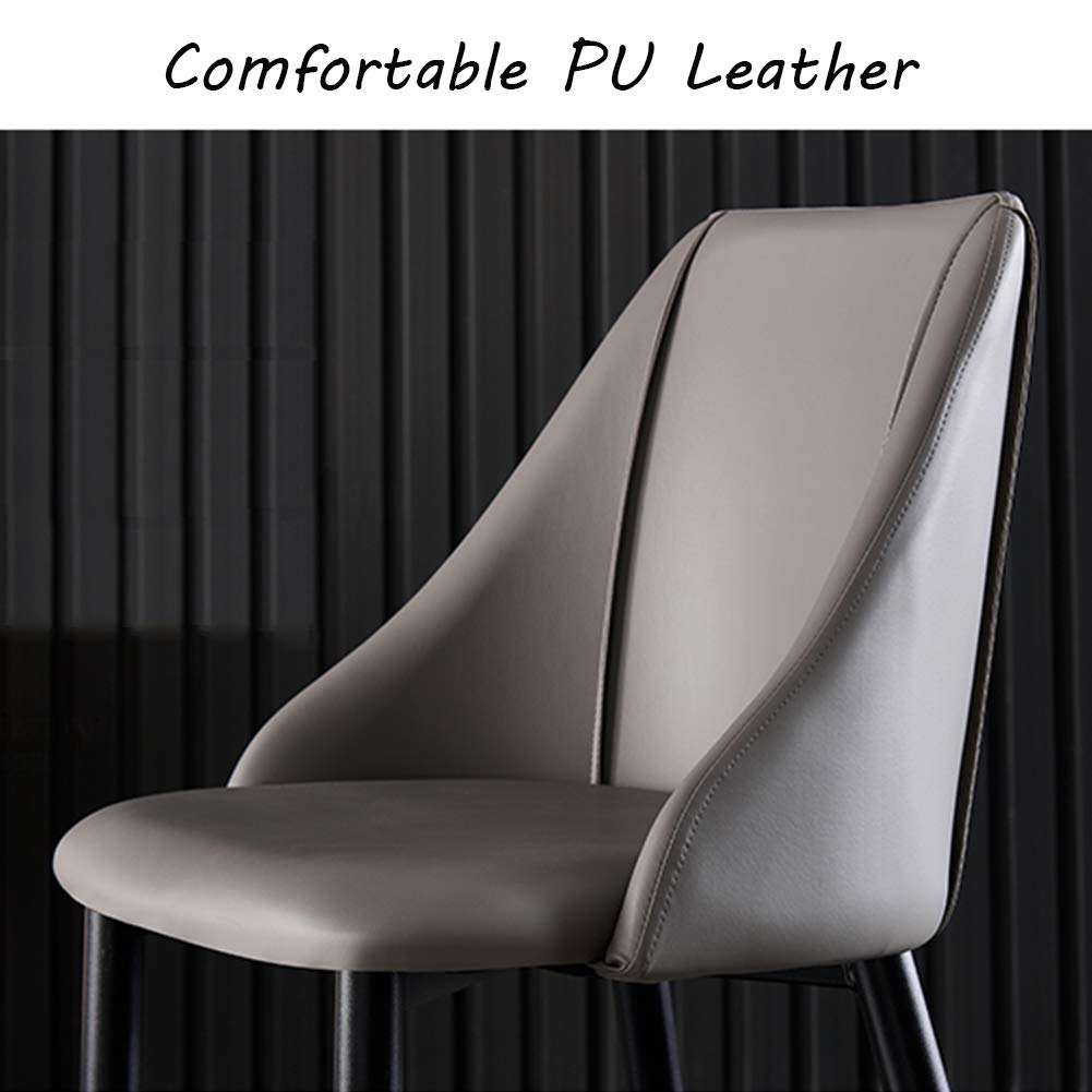 KOOU kök matstolar, vardagsrum hörnstol med PU-läder och kolstål, passar för vardagsrum/sovrum/reception fritidsstol, flerfärgat tillval E Style