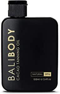 BALIBODY Natural Cacao Tanning Oil with SPF6, 100 ml