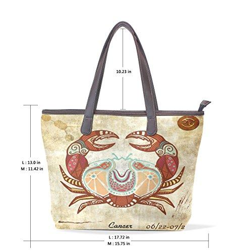 Constellation Zodiac Sign Cancer Women's Fashion Large Tote Ladies Handbag Shoulder Bag