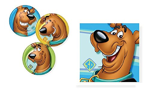 Scooby Doo! Birthday Party Tableware Bundle Pack Plates and Napkins for 16 Guests -