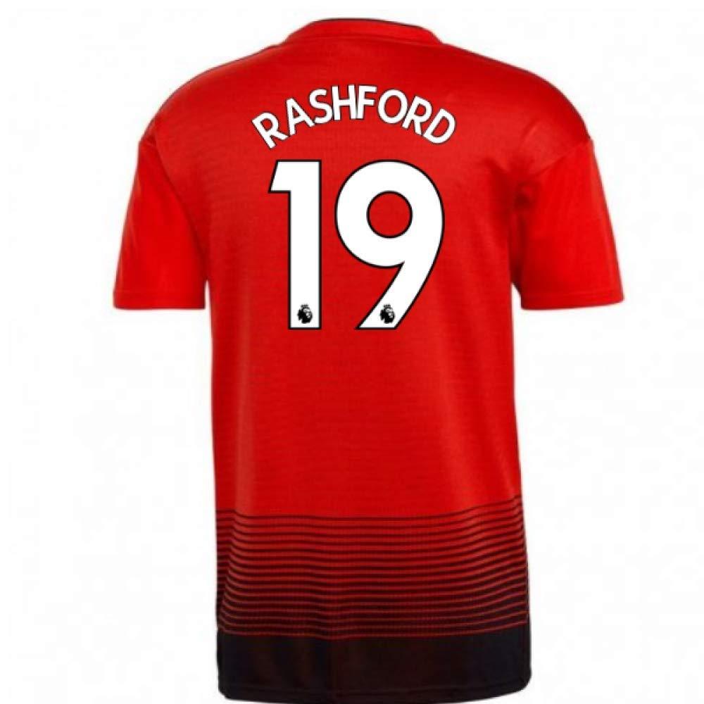 【希少!!】 2018-2019 Man Utd Shirt Adidas Home Football Shirt Red (Marcus Rashford Chest Red 19) B07H9R5XFS Small 36-38