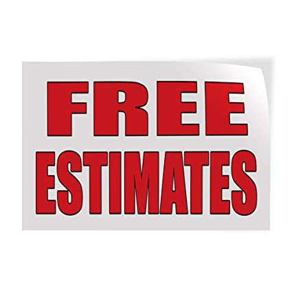 Free Car Repair Estimates >> Amazon Com Decal Sticker Free Estimates Auto Body Shop Car