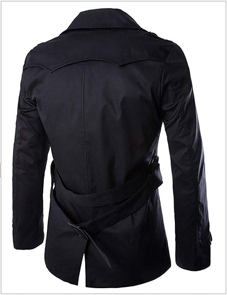 Emmala Giacche Classiche da Uomo Cappotto Invernale Fit Elegante Slim Cappotto Unico Trench Cappotto Invernale Classico Vintage Doppiopetto Abbottonato