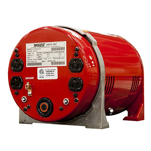 (Winco TB4000C Two-Bearing Generators, 4000W Output, 82 lb.)