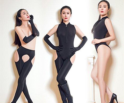 BeLoved 全身タイツ 女性 三点セット ボディストッキング 穴あき が セクシー な オープンクロッチ コスプレ 仮装 コスチューム  過激  ボディースーツ ベビードール