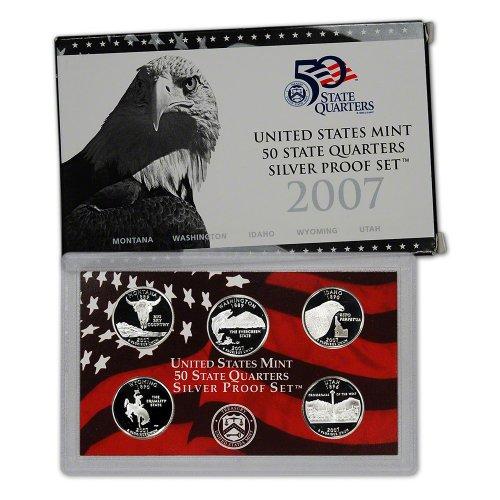 2007 S US Mint Quarters Silver Proof Set